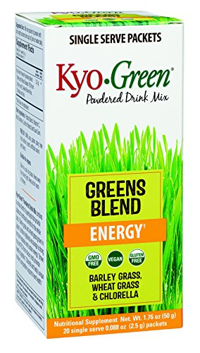 Kyo-Green Powdered Drink Mix Greens Blend Single Serve Packets, 20 Count Kyo Green Drink