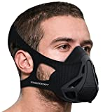 Aduro Sport Workout Training Mask - for Running Biking Training and Fitness, Achieve High Altitude Elevation Effects with 4 Level Air Flow Regulator [Peak Resistance] - BLACK
