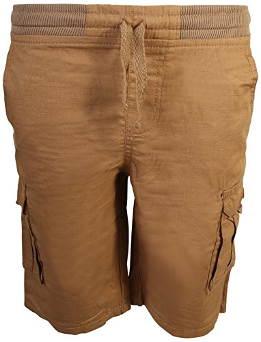 Quad Seven Boys Pull-On Ripstop Cargo Shorts, Bronze, Size 12' - Boys Carpenter Shorts