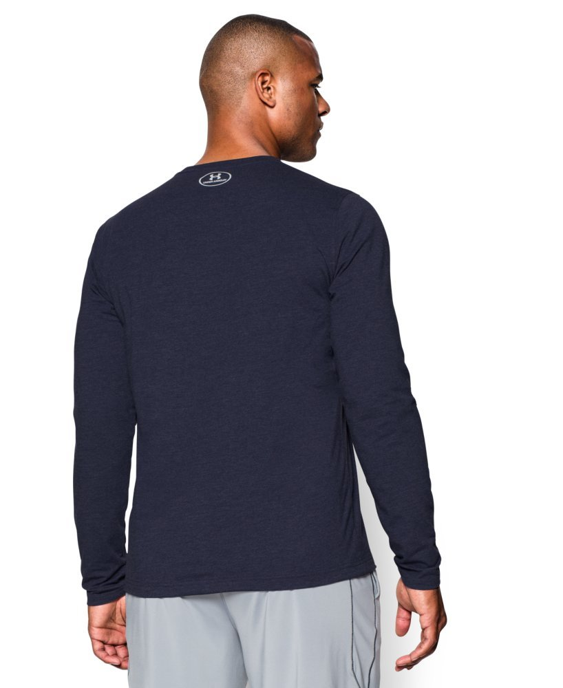 Under Armour Men's Sportstyle Long Sleeve T-Shirt, Midnight Navy /White, Large by Under Armour (Image #2)