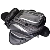 GES Universal Waterproof Motorcycle Oil Fuel Tank Bag with Magnetic Motorbike Small Riding Bag