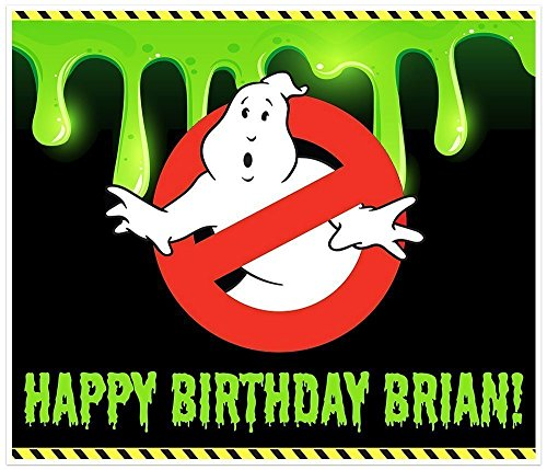 Ghostbusters Birthday Banner Personalized Party Decoration Backdrop -