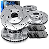 1989-1994 Suzuki Swift Full Kit eLine Drilled Brake Disc Rotors & Ceramic Pads
