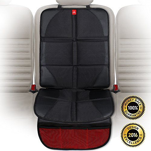 ROYAL RASCALS Car Seat Protector | Organizer pockets | Universal size | Forward and rear facing baby seat liner | Heavy duty stain protection | PREMIUM PRODUCT