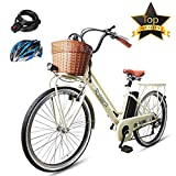 BRIGHT GG NAKTO 26' Electric ebike Shimano 6-Speed Gear 250W City Electric Bicycle with 36V12A Lithium Battery,Lock and Charger