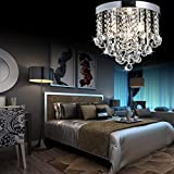 ZEEFO Crystal Chandelier, Modern Chandelier Light