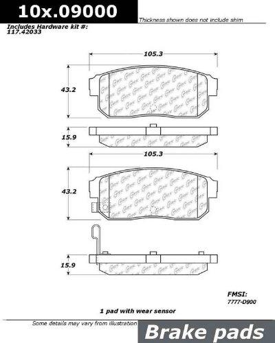 Ceramic StopTech 103.09000 Brake Pad
