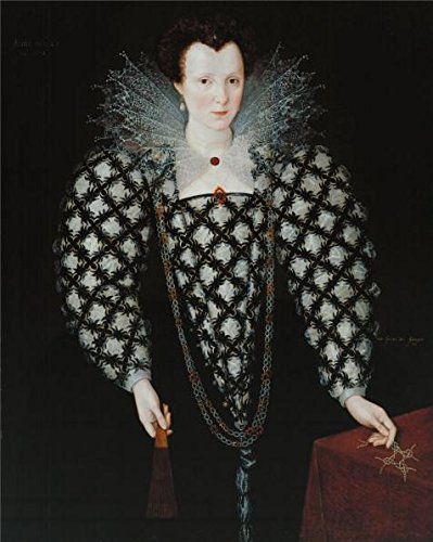 The Perfect Effect Canvas Of Oil Painting 'Marcus Gheeraerts II - Portrait Of Mary Rogers, Lady Harington,1592' ,size: 10x13 Inch / 25x32 Cm ,this Imitations Art DecorativeCanvas Prints Is Fit For Foyer Artwork And Home Decor And Gifts