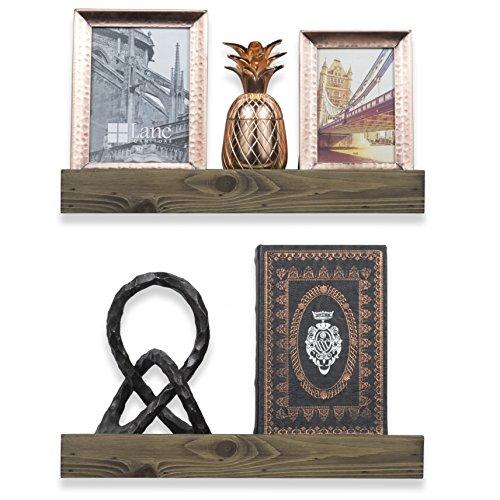 Long Life Divider Kit (ArtifactDesign Wood Floating Wall Ledge Shelf Walnut Finish 17 Inches Set of 2)