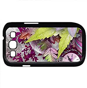 Time For Love (Flowers Series) Watercolor style - Case Cover For Samsung Galaxy S3 i9300 (Black)