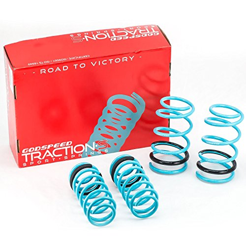 Godspeed(LS-TS-SN-0004) Traction-S Performance Lowering Springs, Set of 4, Scion xA 2004-2006/Scion xB 2004-2006(NCP31) (Performance Spring Set)