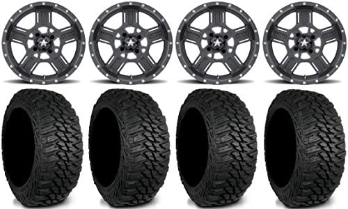 Amazoncom Msa Gray Axe Utv Wheels 235x85x16 Mud Hog Lt