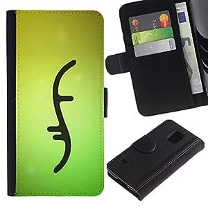 Stuss Case / Funda Carcasa PU de Cuero - Double Helix Dna Strand Biology Green - Samsung Galaxy S5 V SM-G900