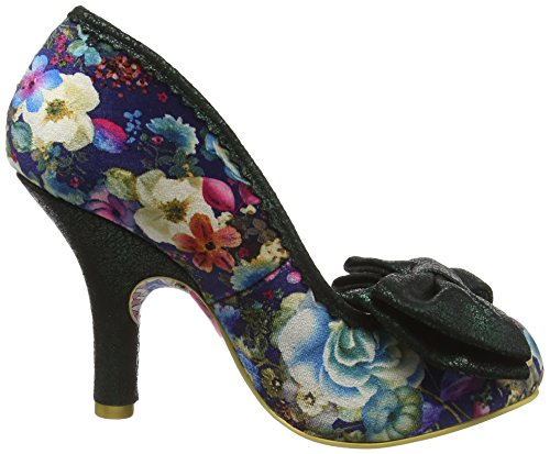 Irregular Choice Mal E Bow, Zapatos de Tacón mujer Azul (Blue Floral)
