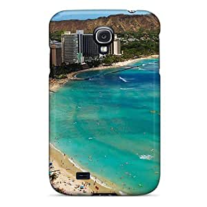Unique Design Galaxy S4 Durable Tpu Case Cover Waikiki Beach Island Travel Desktop
