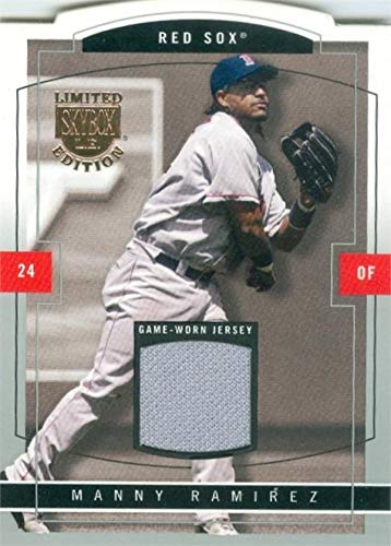 - Manny Ramirez player worn jersey patch baseball card (Boston Red Sox, 67) 2004 Fleer Skybox Limited #11
