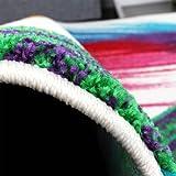 Teppich-Modern-Bunt-Teppich-Splash-Brush-Leinwand-Optik-Creme-Grn-Blau-Rot-Gelb