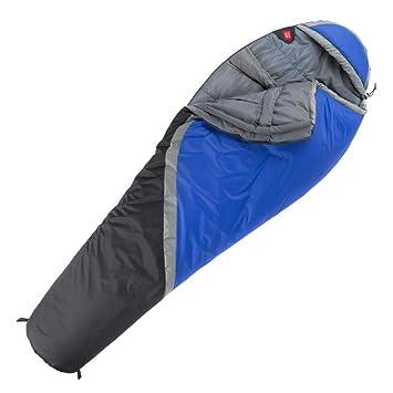 HCMONSTER Saco de Dormir Saco de Dormir para Momia Camping Plegable Empalme Primavera Invierno 0-5 Grado, Azul: Amazon.es: Deportes y aire libre
