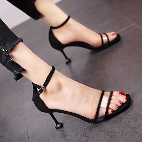 Elegante Fiesta Bola Boda tacón Sandalias Verano Dedos Temperamento a para Moda YMFIE de Zapatos Lady'S 4zqwpw