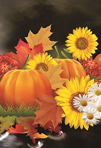 Fall Garden Flag Autumn Leaf Pumpkin Halloween Turkey 12.5 x 18 Two Sided Yard Decoration