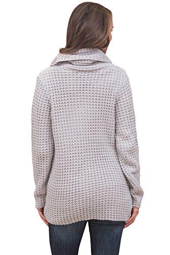 Pullover S Size maglione Neck unico BaronHong Plus disegno Grigio Maglione nero incrociato Cowl Axq8POnEw