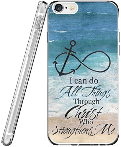 Case for Phone 6S & MUQR Flexible Gel Silicone Slim Drop Proof Protection Cover Compatible with iPhone 6/6S & Bible Verses Christian Theme Anchor (Iphone Anchor Case)
