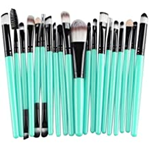 Cinidy 20 pcs Makeup Brush Set tools Make-up Toiletry Kit Wool Make Up Brush Set (Black )