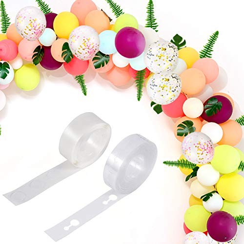 Balloon Garland Arch Kit - 26Ft Long Macaron Latex Balloons Strip for Baby Showers, Weddings, Graduations, Birthday, Hawaii Party Decorations]()
