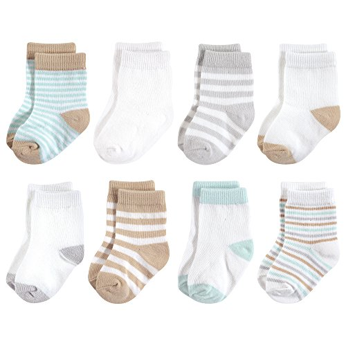 - Touched by Nature Baby Organic Cotton Socks, Neutral Mint 8Pk, 12-24 Months