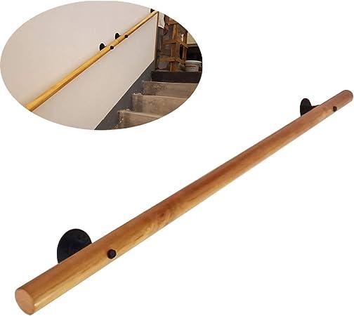 Ronda Escalera de madera Barandilla, antideslizante Loft de seguridad antideslizante de seguridad de escalera Pasamanos mayores Niños barandilla de la escalera Barandilla, fácil de instalar fu: Amazon.es: Hogar