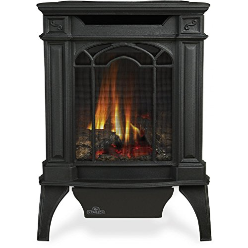 Napoleon GVFS20N Fireplace, Arlington Natural Gas Stove Vent Free 18,000 BTU - Painted Black (Stove Top NOT INCLUDED) (Stove Vent Free)