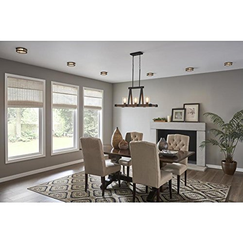 Kichler Barrington Distressed Black and Aged Wood Baffle Recessed Light Trim (Fits Housing Diameter: 4-in) by KICHLER (Image #3)