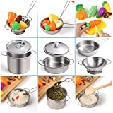 Juboury Kitchen Pretend Play Toys with Stainless