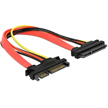 DeLOCK SATA Extension Cable 20cm 22Pin Male to 22Pin Female
