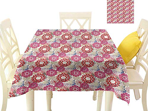 (Davishouse Easy Care Tablecloth Peony Bouquet Gardening Theme Great for Buffet Table W36 x L36)