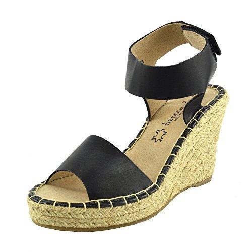 Kick Footwear Damen Keilabsatz Knöchel Knöchel Keilabsatz Riemchen EspadrillePlattform ... a76c52