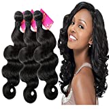 SHACOS Grade 7A Body Wave Brazilian Virgin Human Hair Bundles Mixed Length 10 12 14 inch Remy Hair Extensions Brazilian Hair Weave Nature Black Color about (100g+/-5g)/pc Review