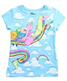 Tween Adventure Time Riding Rainicorn Clouds T-Shirt Large