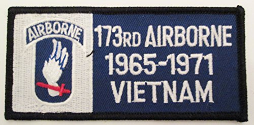 173RD AIRBORNE BRIGADE EMBLEM VIETNAM 1965-1971. 2 PATCHES PER ORDER.(Can be sewn or ironed on jacket or hat) Patch 2