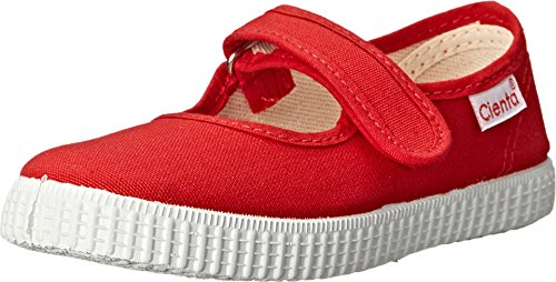 (Cienta Mary Jane Sneakers for Girls - Red Casual Shoes with Adjustable Strap, 32 EU (1.5 M US Little Kid))