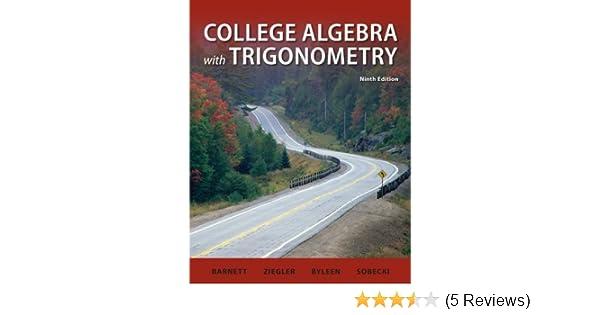 Student Solutions Manual College Algebra With Trigonometry Raymond