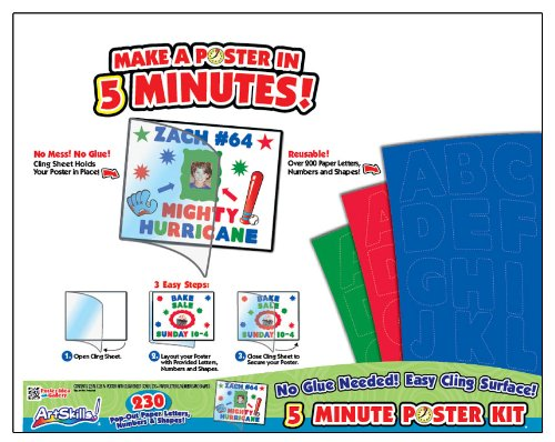 "ArtSkills 5 Minute Poster Making Kit 22"" x 28"", Over 230 Pieces (PA-1558)"