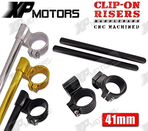 New Arrived Motorcycle 41Mm Billet ClipOns 1 Riser Handlebars For Kawasaki Zx750 Zx77R 1991 1992 1993 1994 1995