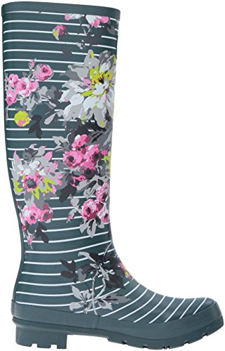 ... Joule Kvinners Welly Print Regn Boot Stripe Floral