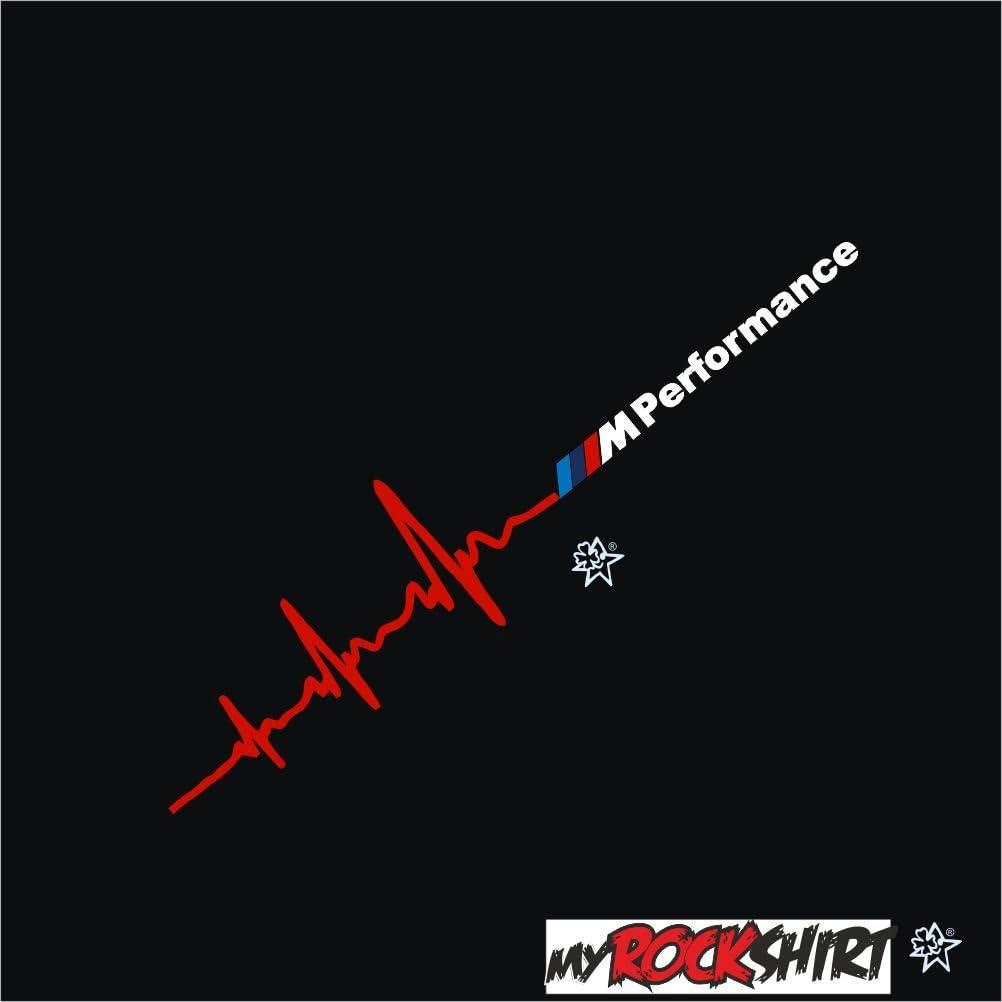 Myrockshirt Herzschlag Aufkleber Kompatibel Für Bmw Performance Ca 30x7 Cm Scheibe Sticker Lack Herz Herzaufkleber Sticker Hochleistungsfolie Estrellina Glücksstern Auto