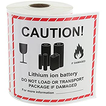 image regarding Printable Lithium Ion Battery Label identify : UN 3481 Lithium Battery Controlling Labels LV