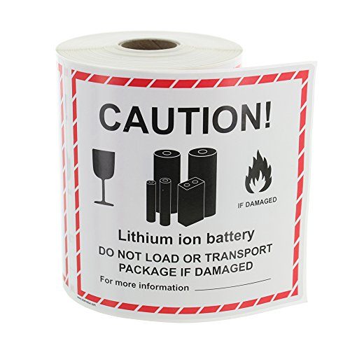 Label Batteries (Lithium Ion Battery Handling Labels - 300 Labels/Roll)