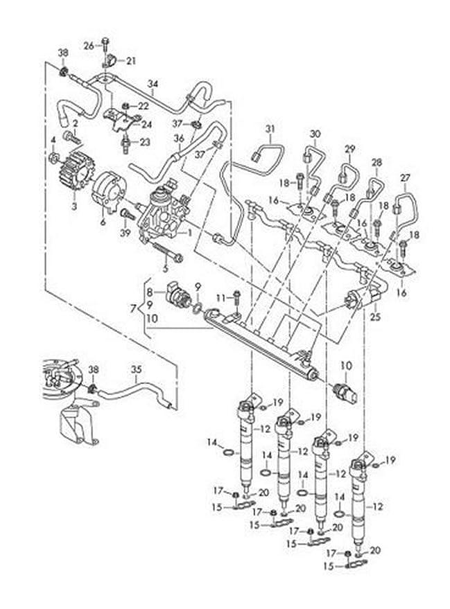 Amazon Com Volkswagen 03l 130 277 A Fuel Injector Automotive
