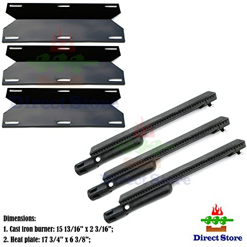 Direct store Parts Kit DG223 Replacement Jenn Air Gas Grill Repair Kit Gas Grill Burner and Heat Plate- 3 Pack