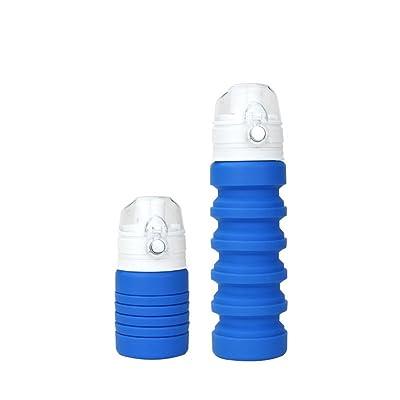 Kabsj bouilloire en silicone pliable Voyage Sports de plein air télescopique Bouteille d'eau